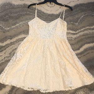 Dresses & Skirts - Cream Cami Lace Dress